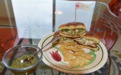 Celery Root Schnitzel with Beet Top Pesto & Quick-Pickled Honey Crisp Apples