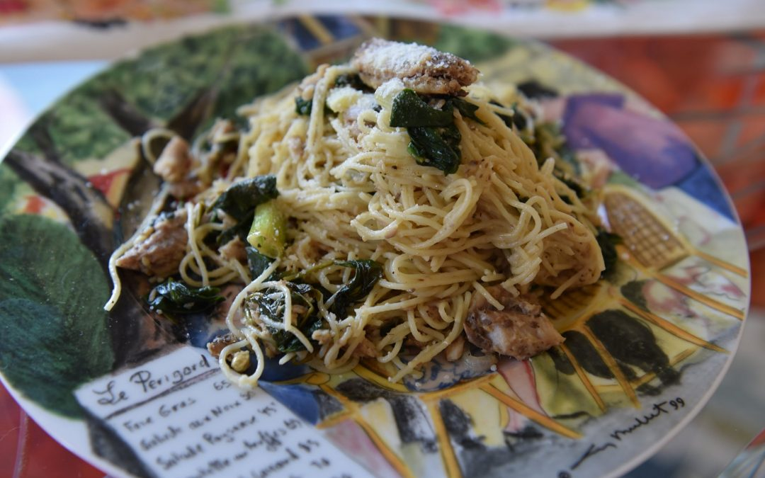 """Friday Fish"": Sardines in Angel Hair Pasta"