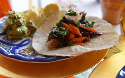Friday Fish: Halibut Tacos with Beet and Carrot Slaw