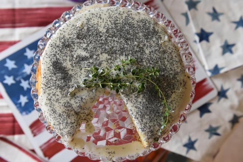 Poppy Seed Cake with Lemon Thyme