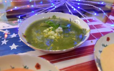 Honeydew Melon Soup with Fresh Basil and Mint