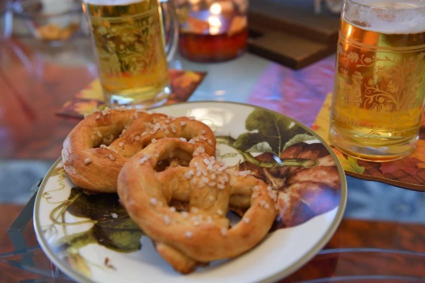 Oktoberfest Supper- Pretzels and Pumpkin-Filled Pasta